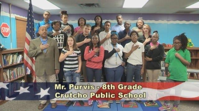 Mr. Purvis' 8th Grade Class At Crutcho Public Schools