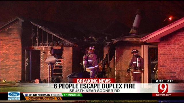 Fire Destroys Southeast OKC Duplex