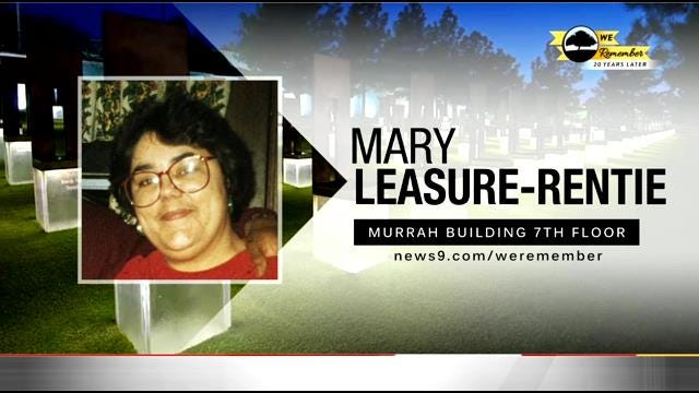 We Remember - 20 Years Later: Mary Leasure-Rentie