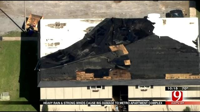 Metro Apartment Complex Damaged By Severe Storm