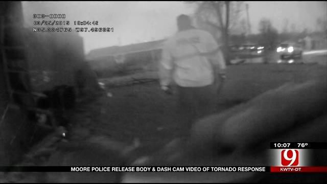 Body Cam Footage Shows Moore Police Tornado Response
