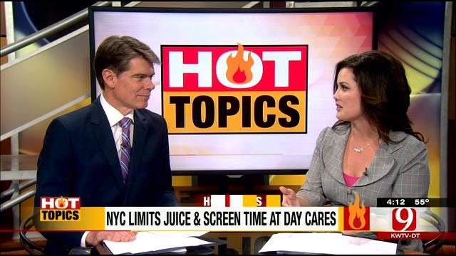 Hot Topics: NYC Limits Juice and Screen Time At Daycare
