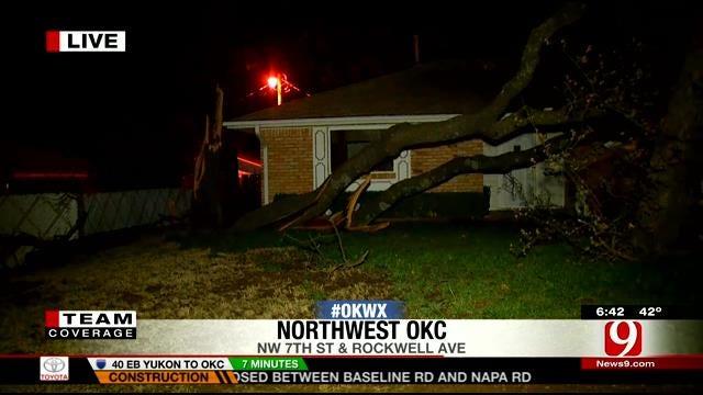 Severe Storm Damages NW OKC Neighborhood