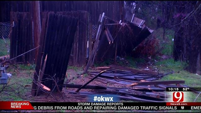 Storm Damage Near Rockwell Ave. In NW OKC
