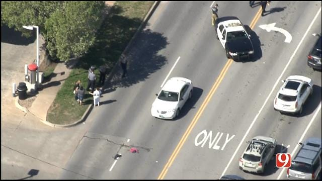 WEB EXTRA: SkyNews 9 Flies Over Auto-Ped Crash In NW OKC