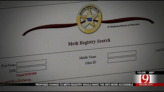 Oklahoma Bill To Make Meth Offender Registry More Accessible