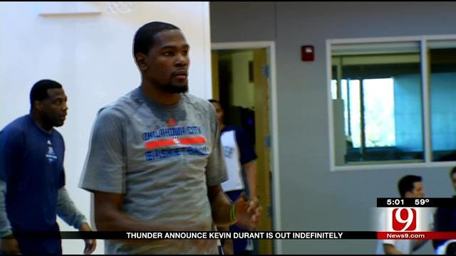 Kevin Durant 'Removed From Basketball Activities, Out Indefinitely'