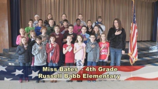 Miss Bates' 4th Grade Class at Russell Babb Elementary School