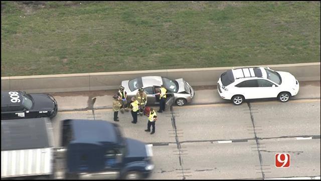 Crews Respond To Crash On I-40 Westbound Near Amarillo Junction