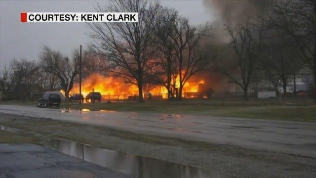 WEB EXTRA: Fatal Grady County House Explosion