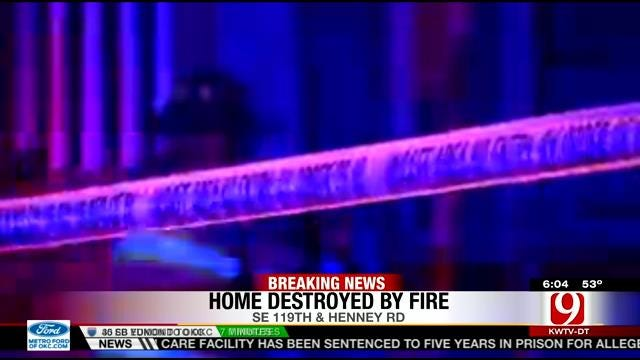 Woman, Dog Escape Burning SE OKC Home