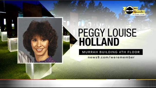 We Remember – 20 Years Later: Peggy Holland