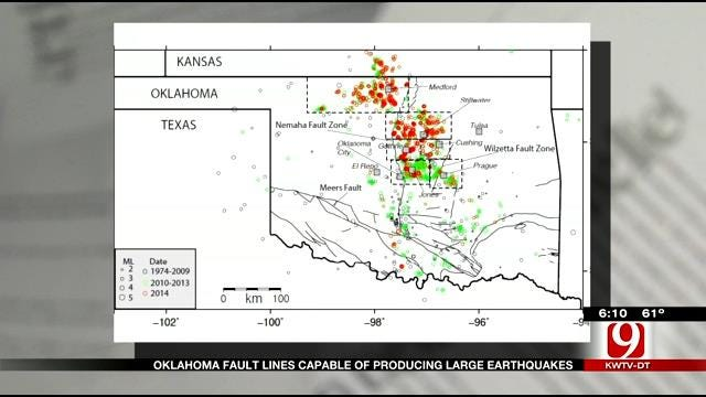 New Study Says Earthquakes Could Become Larger In Oklahoma
