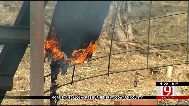 Crews Continue To Contain Massive Wildfire In Northwest Oklahoma
