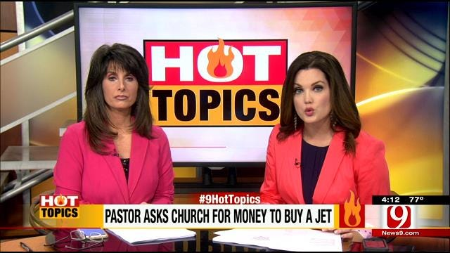 HOT TOPICS: Megachurch Pastor Wants $60M Jet