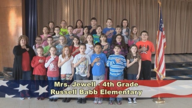 Mrs. Jewell's 4th Grade Class at Russell Babb Elementary School