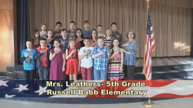 Mrs. Leathers' 5th Grade Class at Russell Babb Elementary School