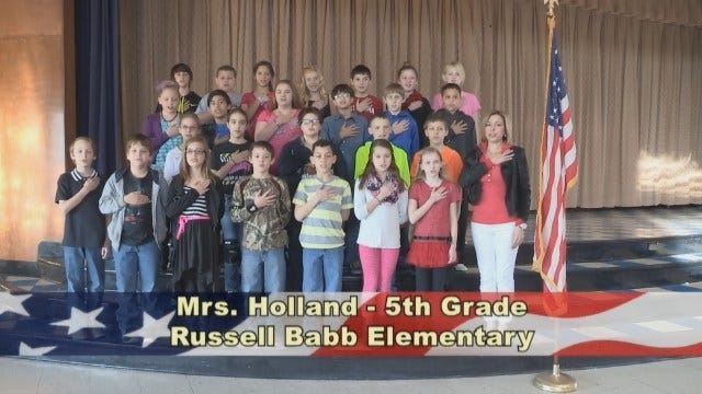 Mrs. Holland's 5th Grade Class at Russell Babb Elementary School