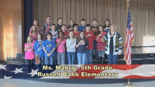 Ms. Mabry's 5th Grade Class at Russell Babb Elementary School
