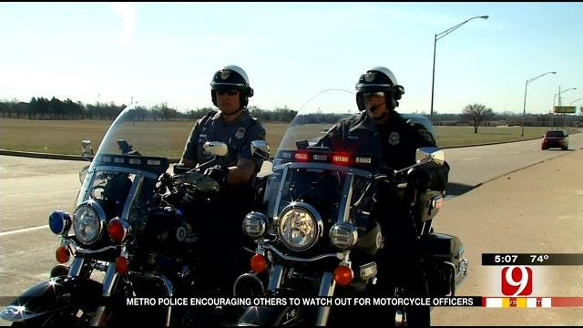 Metro Police Encourage Others To Watch Out For Motorcycle Officers