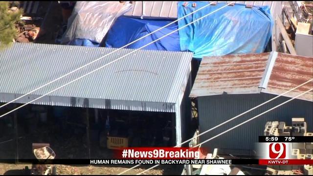 Authorities: Human Remains Found In Backyard Near Shawnee