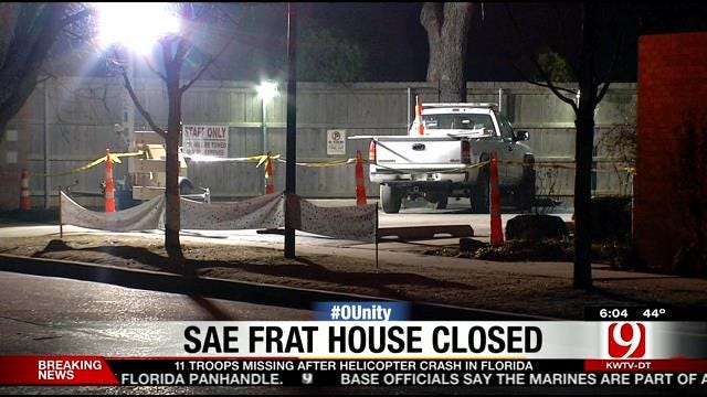 SAE Fraternity House Closed At Midnight