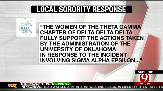 Tri Delta Local Chapter Releases Statement Concerning SAE Video