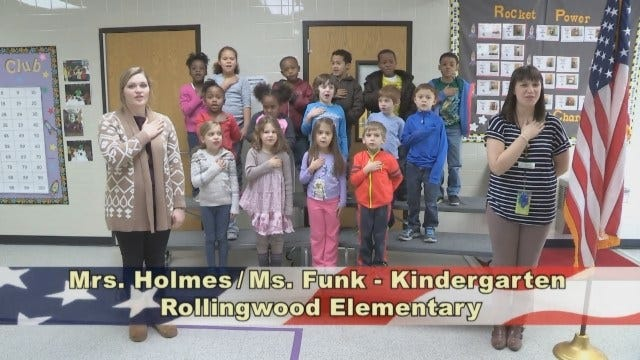 Mrs. Holmes' and Ms. Funk's Kindergarten Class at Rollingwood Elementary School
