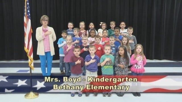 Mrs. Boyd's Kindergarten Class at Bethany Elementary School