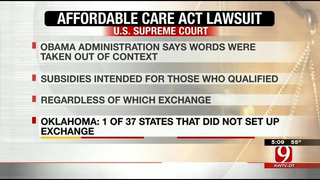 U.S. Supreme Court Hearing Arguments On Affordable Care Act