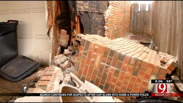 Police Still Searching For Suspects Who Crashed Into Bethany Home, Power Poles