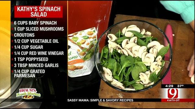 Kathy's Spinach Salad With Poppy Seed Dressing