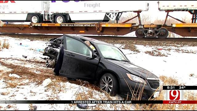 Emergency Crews Respond To Crash Involving Train In NW OKC