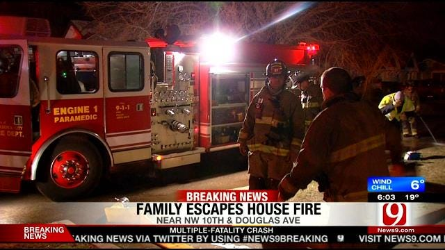 OKC Police Officer Alerts Couple To House Fire