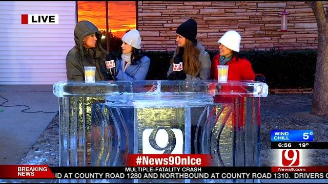 News 9 On Ice: Bobbie, Lacey Report From News 9 Ice Desk