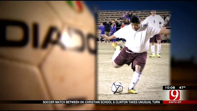 Dream Fulfilled During Clinton High School Soccer Match