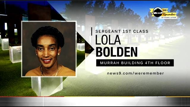 We Remember – 20 Years Later: Lola Bolden