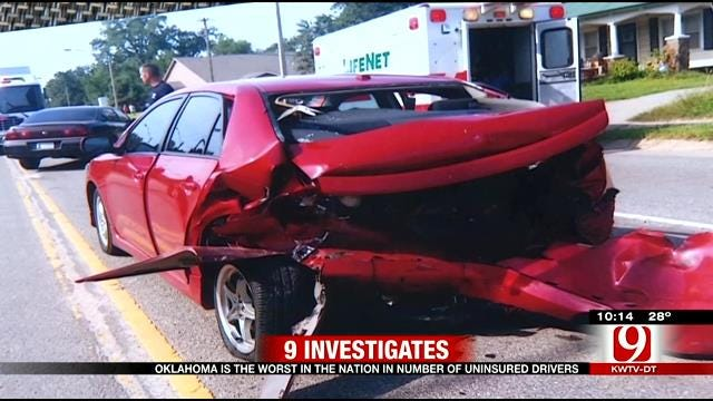 9 Investigates: Law To Reduce Uninsured Driving In Oklahoma Stuck In First Gear