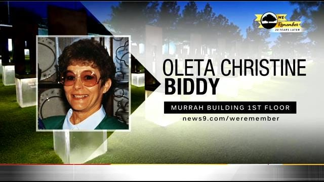 We Remember – 20 Years Later: Oleta Biddy
