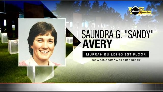 We Remember – 20 Years Later: Saundra Avery
