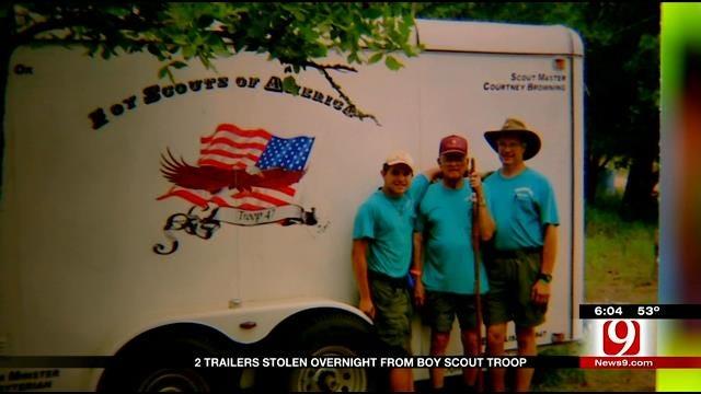 Two Trailers Stolen From OKC Boy Scouts