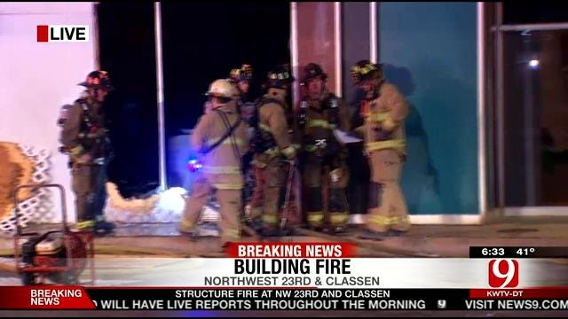 Crews Put Out Structure Fire In NW OKC