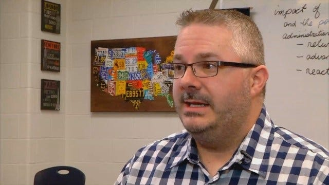 WEB EXTRA: Full Interview With Southmoore History Teacher David Burton