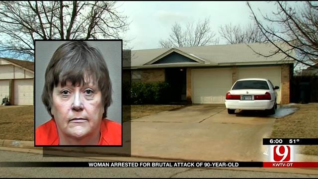 Mustang Woman Arrested Following Attack Of 90-Year-Old Mother