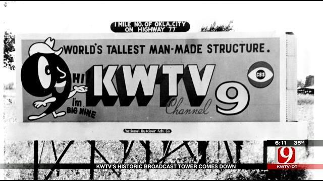 Final Piece Of KWTV's Broadcast Tower Falls