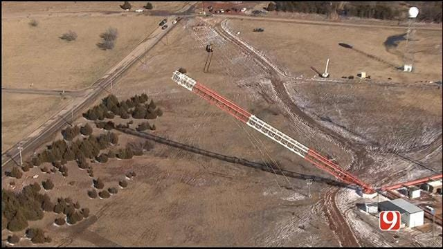 WEB EXTRA: Aerial View Of Tower Falling