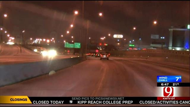News 9 Storm Trackers Report On Road Conditions