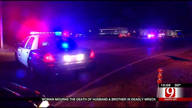 Woman Loses Husband, Brother In SW OKC Car Crash