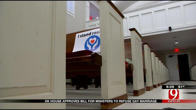 Bill Protecting OK Clergy Who Refuse Same-Sex Marriage Recognition Moves Through The House