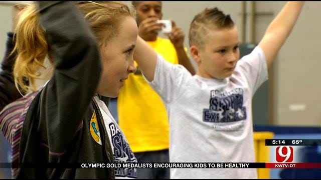 Olympic Gold Medalists Encouraging Kids To Be Healthy